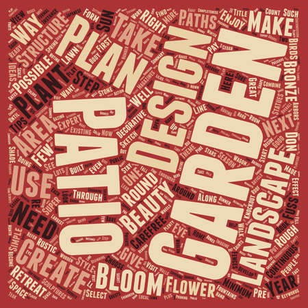 テキスト背景の wordcloud 概念は作成 A ガーデンとパティオ デザインを楽しむ年ラウンド