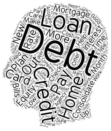 Debt Relief Part 3 text background wordcloud concept