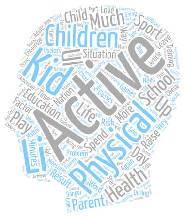 Danger Our kids health is at risk text background wordcloud concept