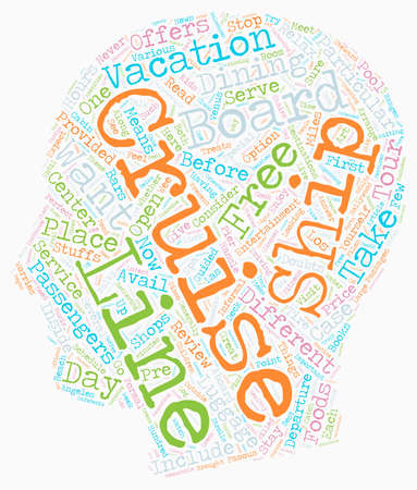 freeing: cruise reviews text background wordcloud concept