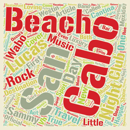 nights: Days Nights of Cabo San Lucas text background wordcloud concept