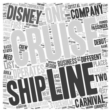 cruise line text background wordcloud concept