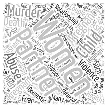 maternal: Couples Pregnancy And Murder The Maternal Murder Phenomenon text background wordcloud concept