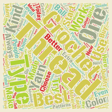 crochet thread text background wordcloud concept Stock Vector - 68123813