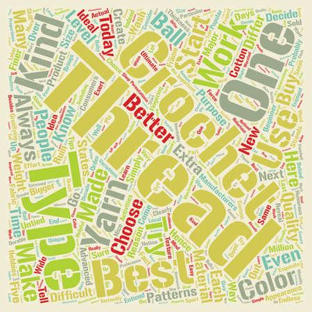 crochet thread text background wordcloud concept