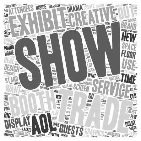 Create a Trade Show Booth That Generates Buzz text background wordcloud concept