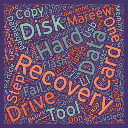 data recovery: Data Recovery Tips text background wordcloud concept Illustration