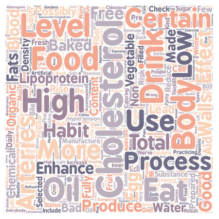 diet to lower cholesterol 1 text background wordcloud concept