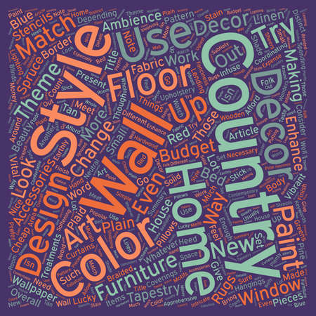 cor: Decorative Tapestries For Country Style Theme Home Decor text background wordcloud concept
