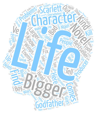 novel: Create The Bigger than life Character For Your Novel text background wordcloud concept
