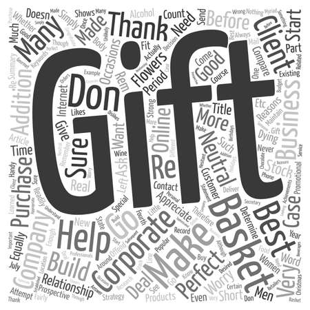 corporate gift: Corporate Gift Basket Help text background wordcloud concept