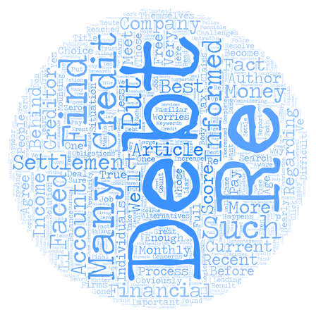 difficult situation: Debt Settlement The Truth text background wordcloud concept Illustration