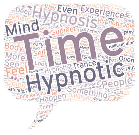 hypnotized: Can you be hypnotized text background wordcloud concept Illustration