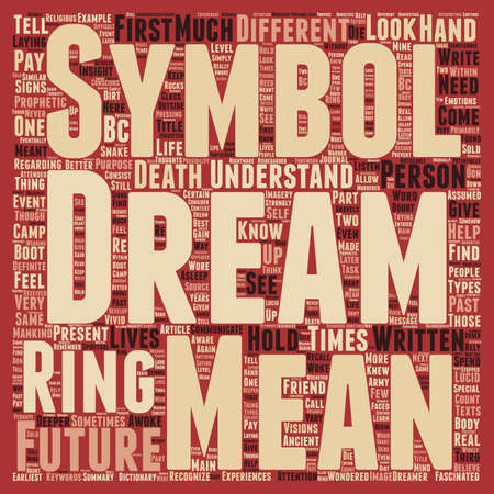 fascinated: Can a Dream Tell us of the Future text background wordcloud concept Illustration