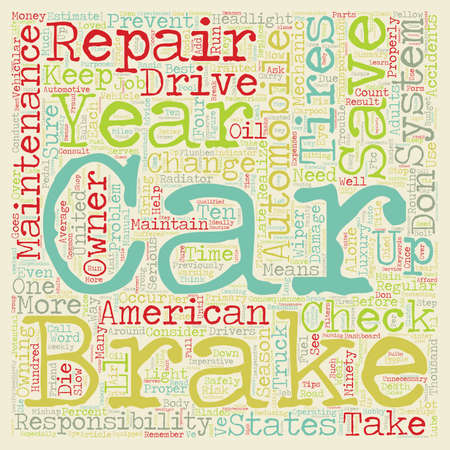 repairs: Car Maintenance And Repairs text background wordcloud concept