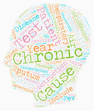 deemed: chronic bronchitis text background wordcloud concept Illustration