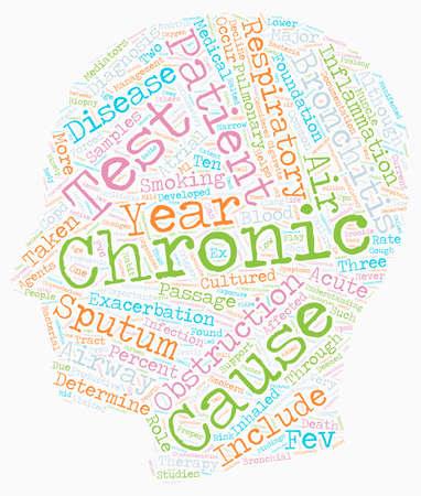 chronic bronchitis text background wordcloud concept Illustration