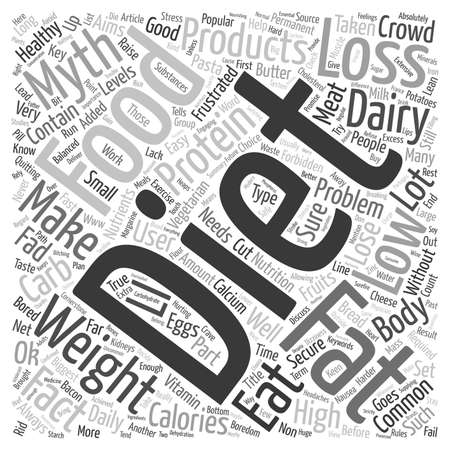 Common Myths From The Weight Loss Crowd text background wordcloud concept