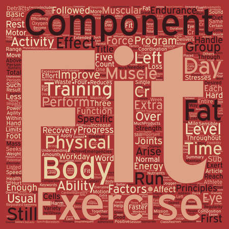 usual: Components of Physical Fitness text background wordcloud concept