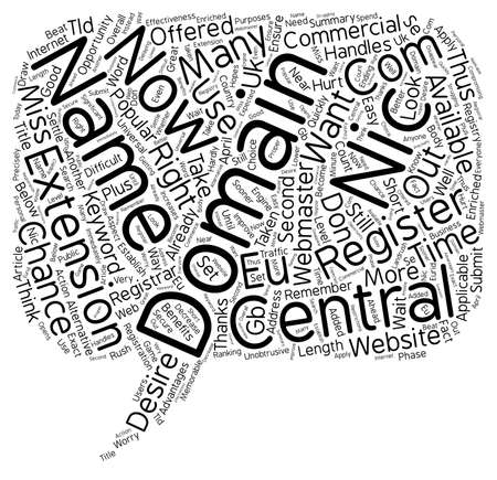 availability: Central Nic Domains text background wordcloud concept