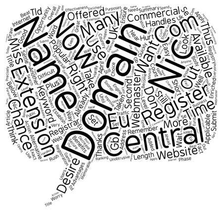 domains: Central Nic Domains text background wordcloud concept