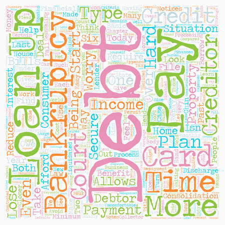 creditors: Closer Look At Bankruptcy text background wordcloud concept Illustration