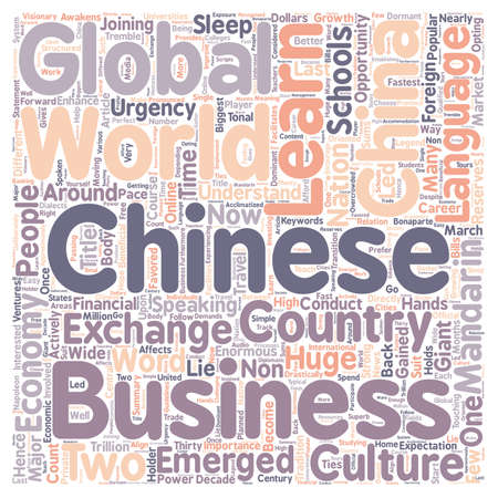 favored: China Its Global Economy and Favored Chinese Language text background wordcloud concept