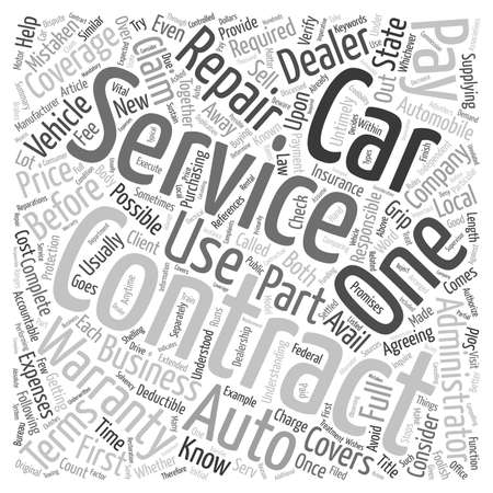 contracts: Car Service Contracts Full Service Or Foolish Service text background wordcloud concept