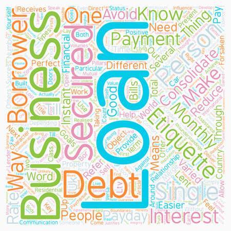 Business Etiquette text background wordcloud concept