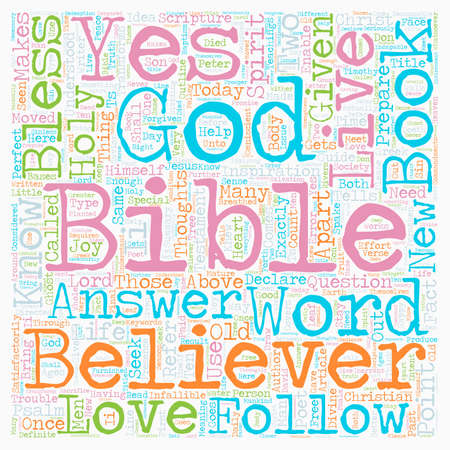 Can Society Live By The Bible Today text background wordcloud concept