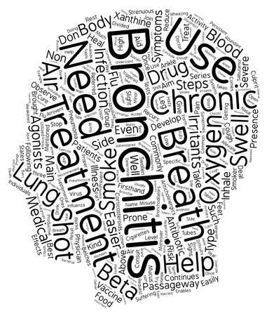 chronic bronchitis treatment text background wordcloud concept