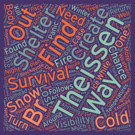 Cold Weather Survival text background wordcloud concept