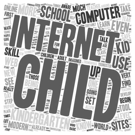sophisticate: Computers for Kiddos 1 text background wordcloud concept Illustration