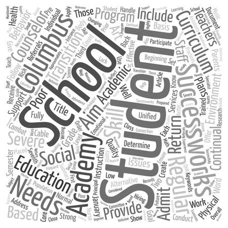 combat: Columbus Schools Create SuccessWorks Academy to Combat Poor Conduct and Academics text background wordcloud concept
