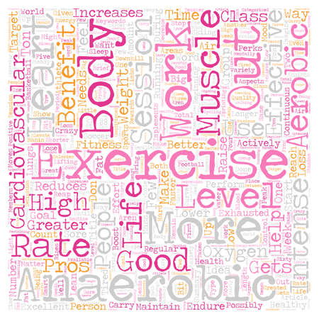 Cardiovascular Effort for Excellent Health text background wordcloud concept