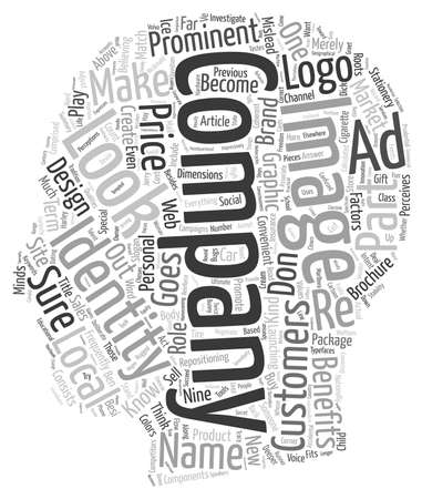 lejos: Compañía de identidad es mucho más profundo que un concepto de fondo wordcloud logotipo de texto