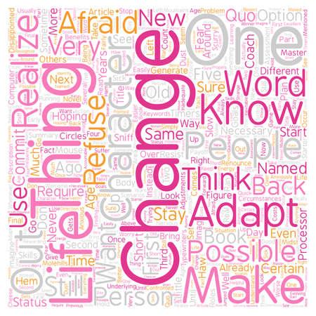 Change text background wordcloud concept Illustration