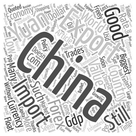 Chinese Yuan The Powder Keg Currency text background wordcloud concept