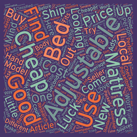 adjustable: Can You Buy Good Cheap Adjustable Beds Why Not text background wordcloud concept Illustration