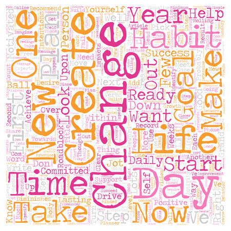 life change: Change Your Life In Days text background wordcloud concept