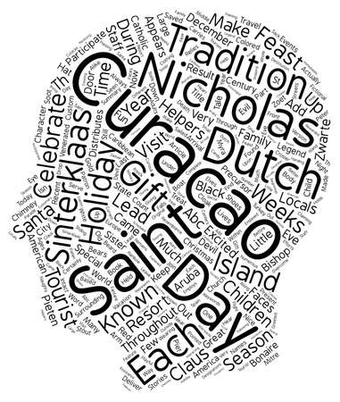Celebrate Saint Nicholas Day In Curacao text background wordcloud concept