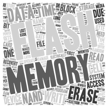 data recovery: Compact Flash Memory and Data Recovery text background wordcloud concept Illustration