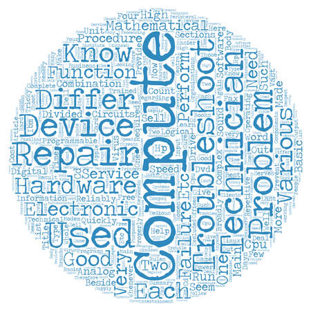 computer repair: Computer Repair Is A Tricky Business text background wordcloud concept Illustration
