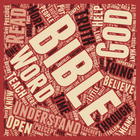 understand: Can Society Understand the Bible Today text background wordcloud concept