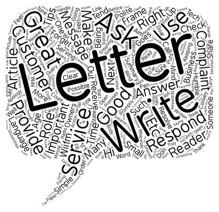 complaint: Complaint Letters How to Respond in 7 Simple Steps text background wordcloud concept