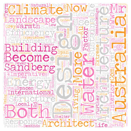Climate A Design Imperative text background wordcloud concept Illustration