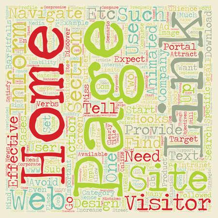 web portal: Common Mistakes Home Page Design text background wordcloud concept