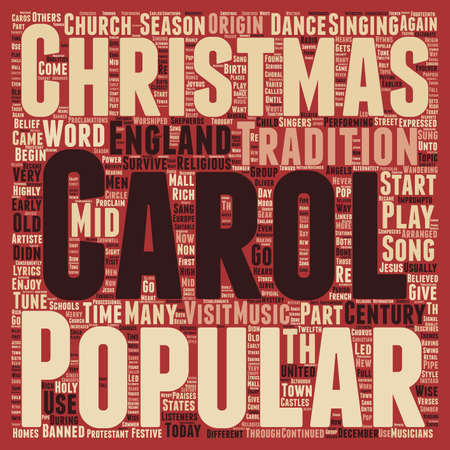 caroling: Christmas Article 38 text background wordcloud concept
