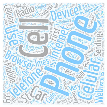 features: Cell Phone Features text background wordcloud concept