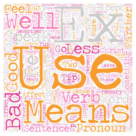 Commonly Misused Words and how to use them correctly text background wordcloud concept
